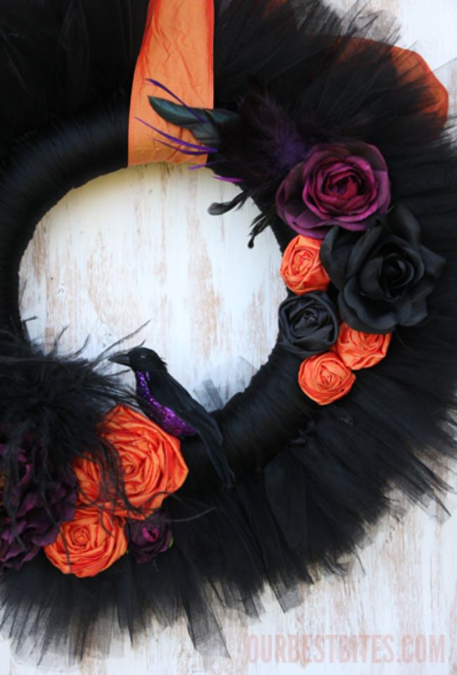 Make a Tulle Halloween Wreath {how to}