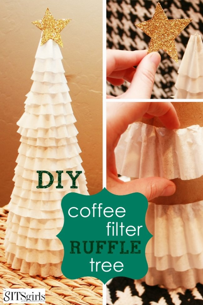 Ruffle Christmas Tree {diy decor}