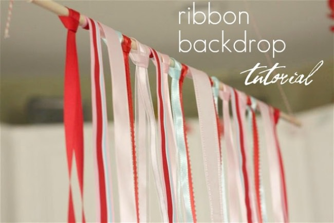 Ribbon Backdrop {party decor}