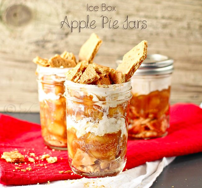 Ice Box Apple Pie Jars