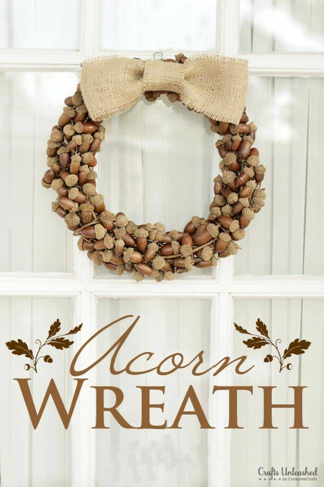 Rustic Acorn Fall Wreath {tutorial}
