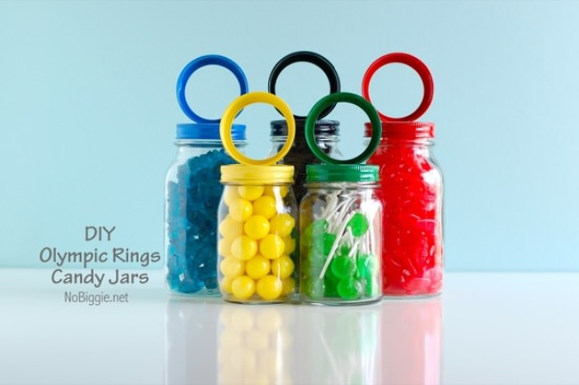 DIY Olympic Rings Candy Jar