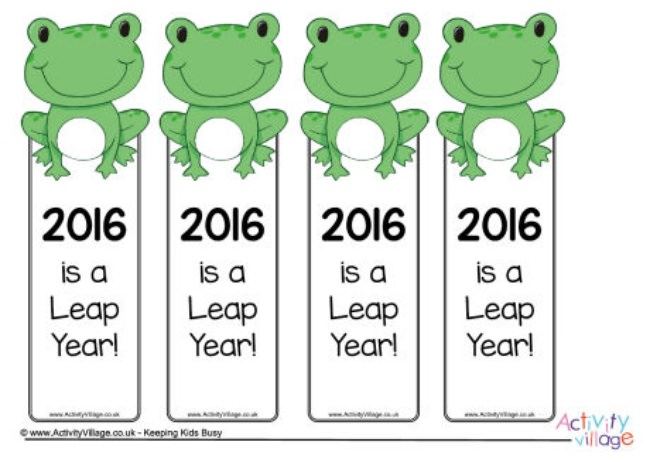 hoppy leap year bookmarks