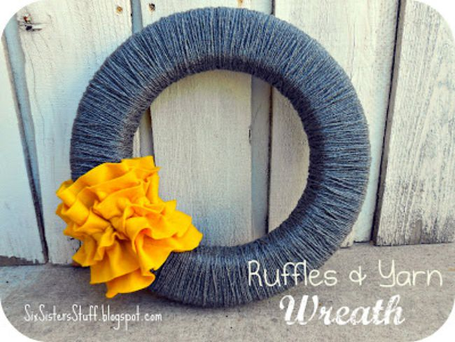 diy yarn wreaths