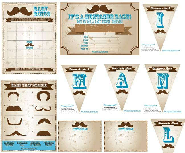 Little Man Baby Shower Printables