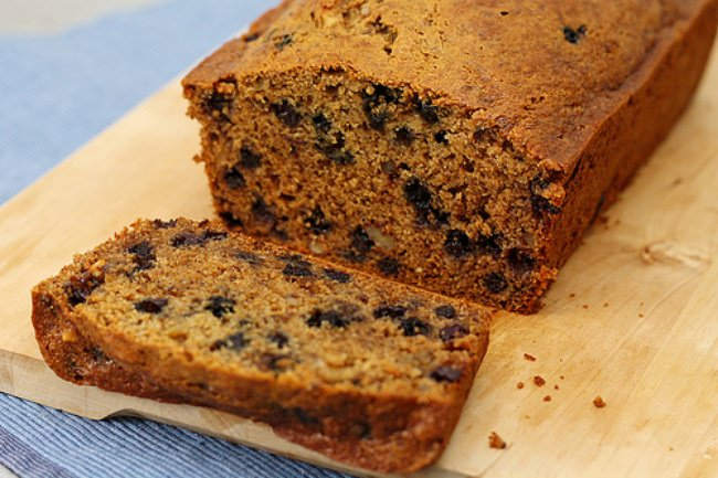 Wheat Blueberry Banana Bread