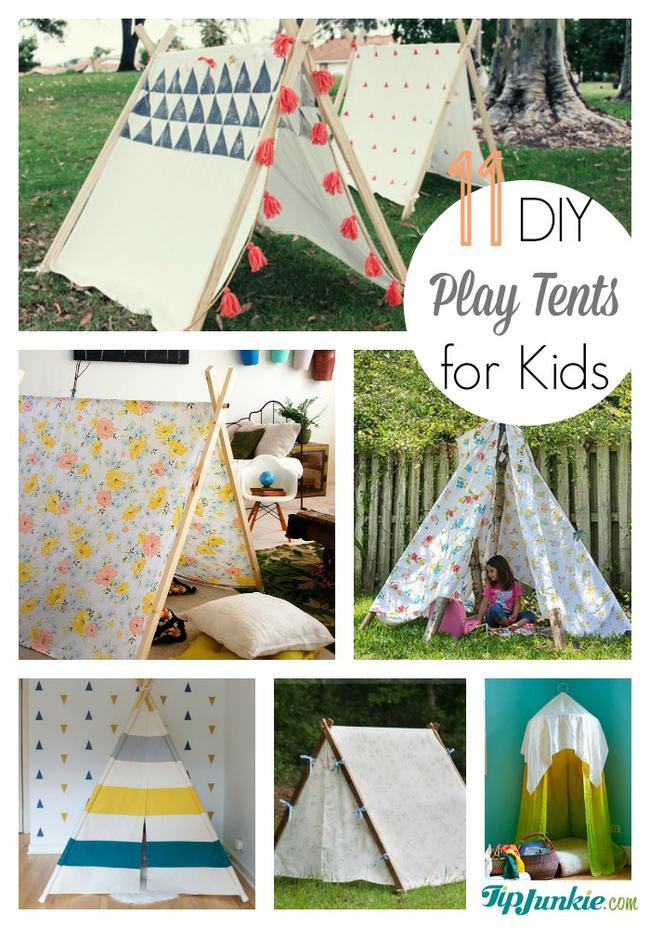 11 Easy DIY Play Tents for Kids | Tip Junkie