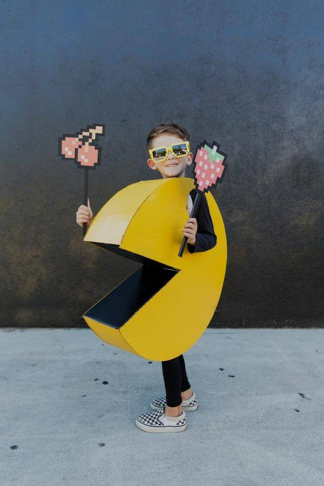 DIY Kids Pac-Man Costume