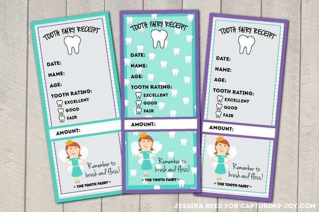 Tooth Fairy Receipt {free printable}