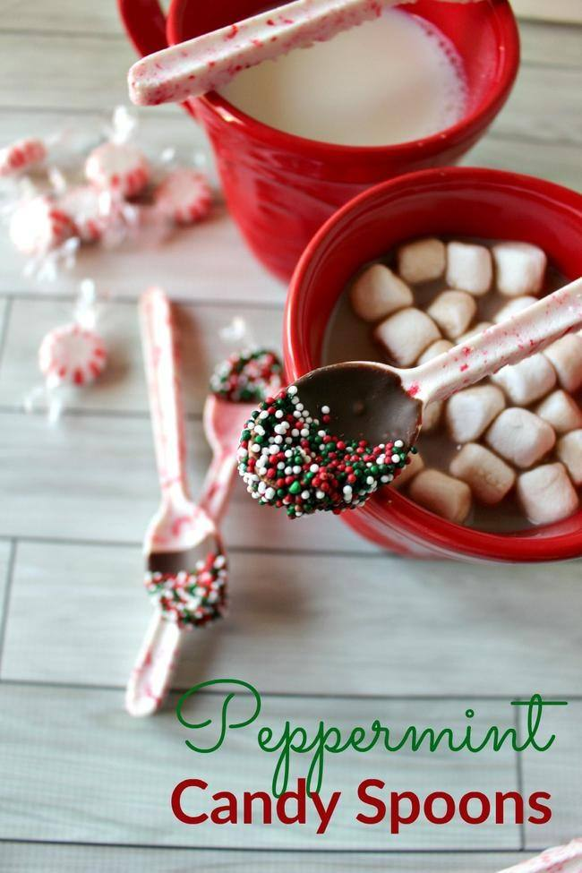 DIY Peppermint Candy Spoons