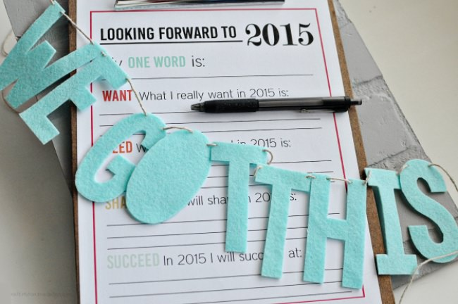 New Year's Resolutions {free printable}