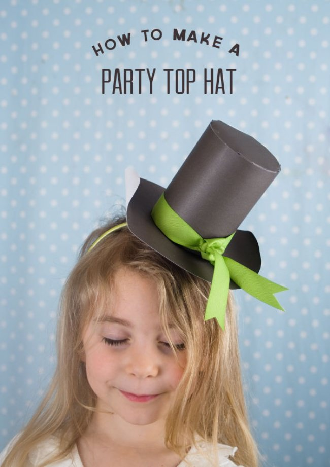 St. Patrick's Day Top Hat {St. Patrick's Day Paper Craft}