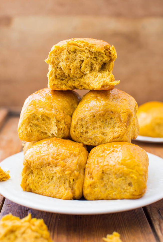 Honey Butter Pumpkin Dinner Rolls