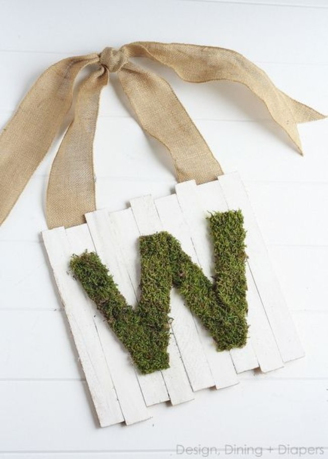 Moss Monogram Door Sign