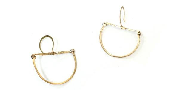 DIY Hammered Metal Hoop Earrings