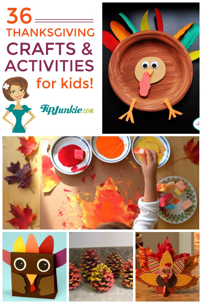 36 Thanksgiving Activities and Kids Crafts