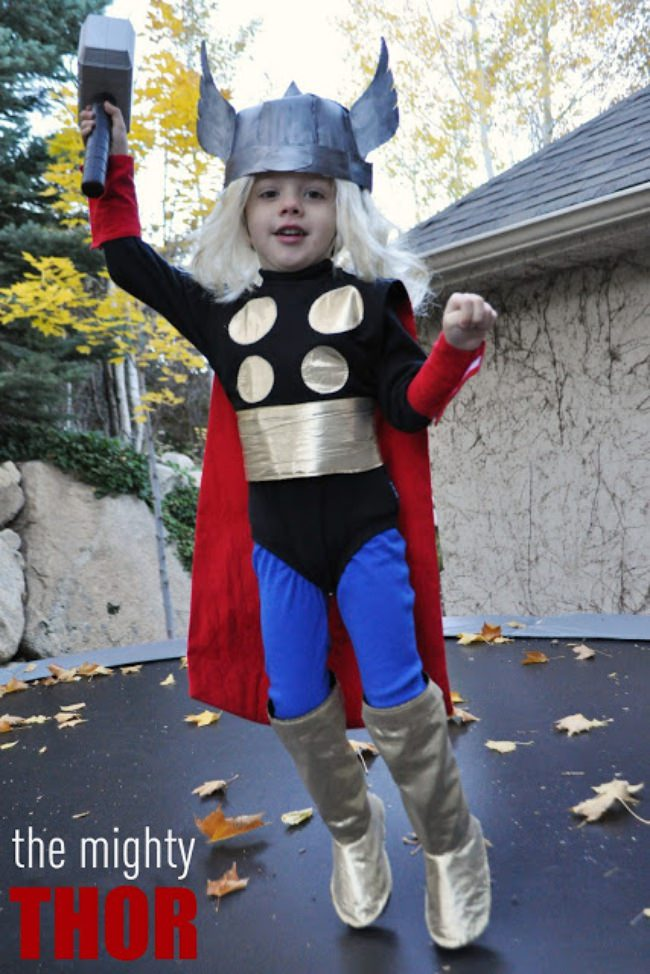Homemade Thor Costume  sc 1 st  Tip Junkie : diy superhero costumes for teens  - Germanpascual.Com