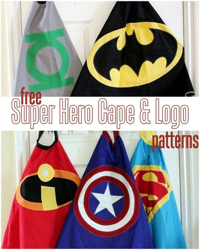 Free Superhero Cape Pattern & Logo