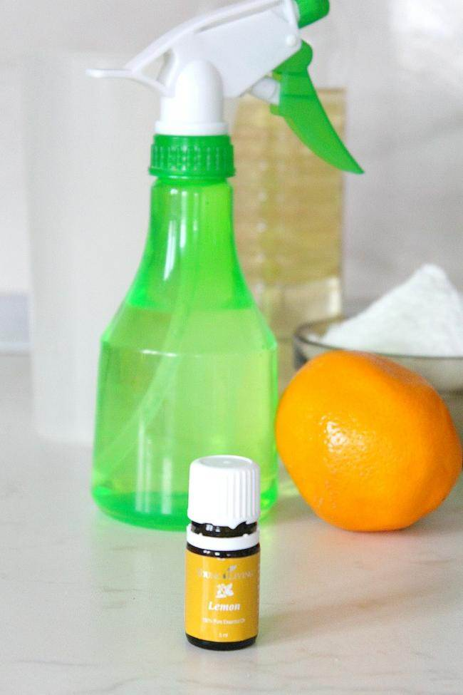 lemon disinfectant spray