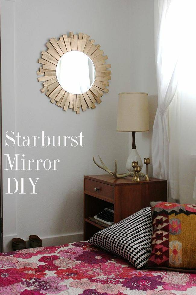Starburst Mirror DIY {Mirror}