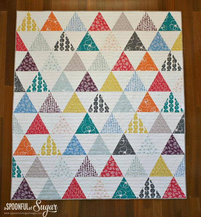 Triangle Fat Quarter Quilt