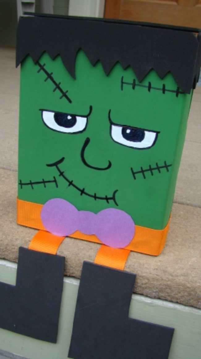 Frankenstein Head 17 Frankenstein Crafts Kids Can
