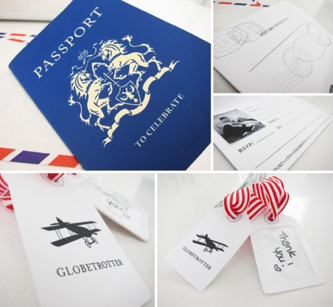 Luggage Tags & Passport Invitation