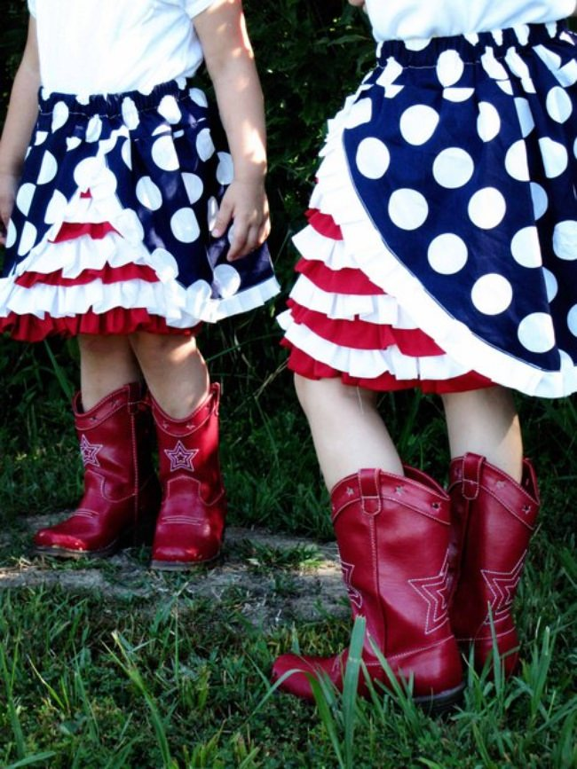 4th of July Ruffle Skirt Tutorial {Patriotic Clothing}