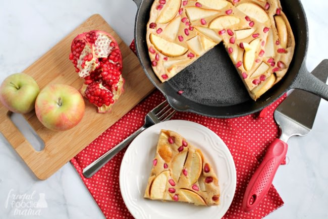Apple-Pear Pomegranate Puff Pancake