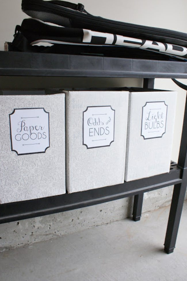 Garage Storage Labels