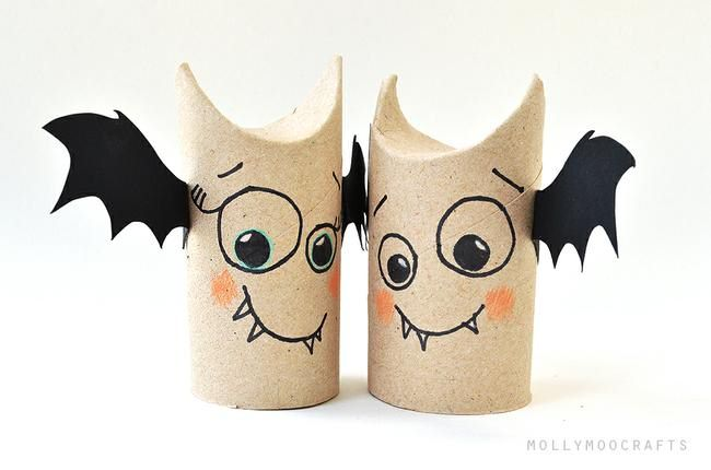 Toilet Roll Bat Craft