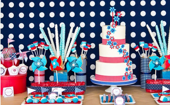 Red, White and Blue Patriotic Party