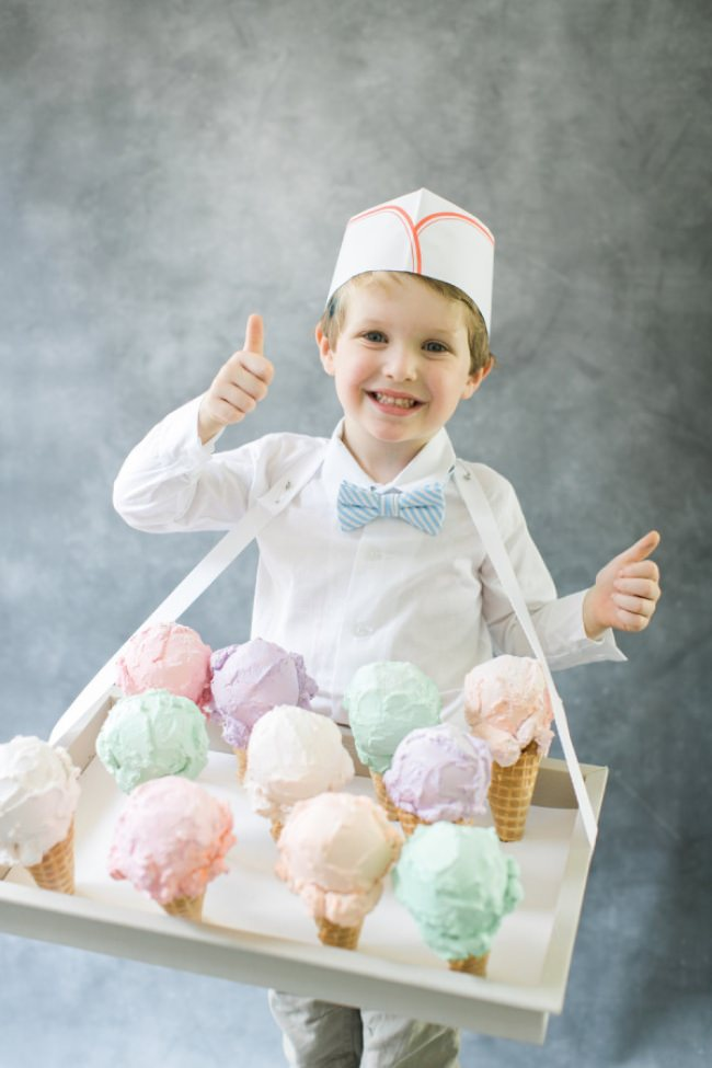 DIY Ice Cream Man Costume