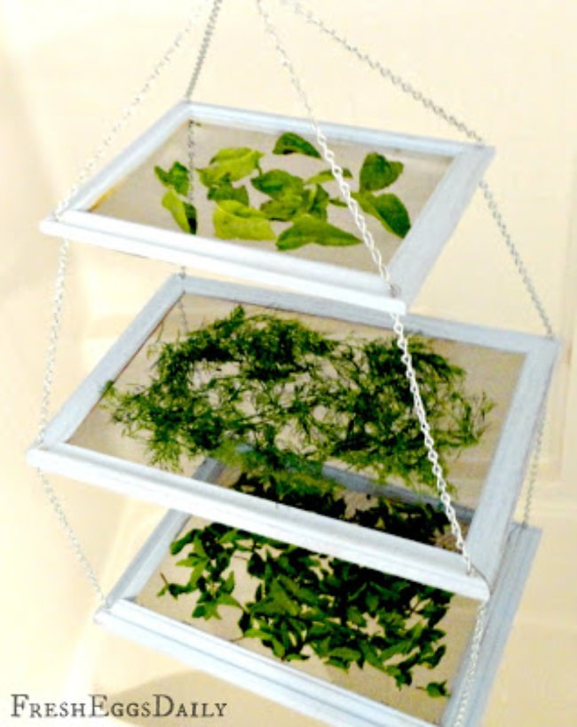 DIY Tiered Herb Drying Rack
