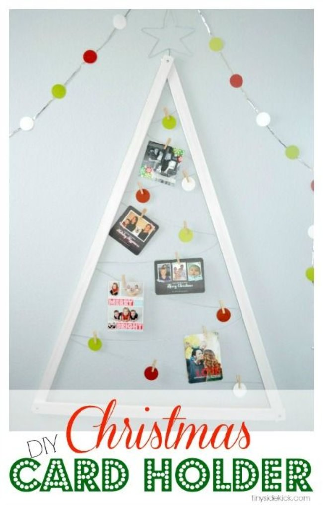 Exceptionnel DIY Christmas Card Holder
