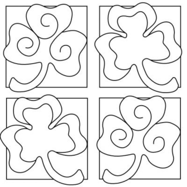 Printable Shamrock Coloring Sheets St Patricks Pages