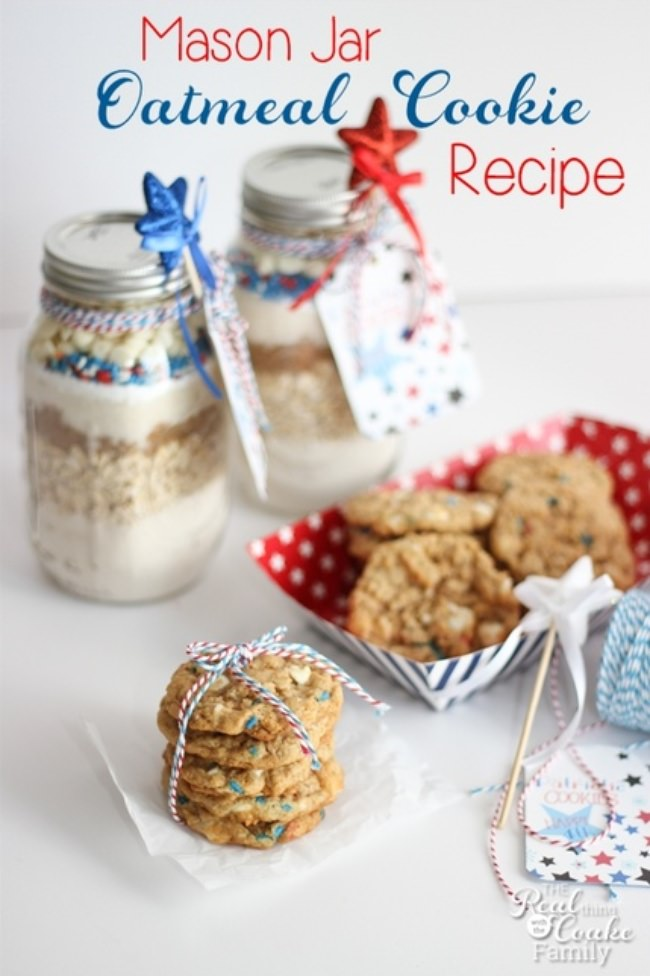 Oatmeal Cookies in a Jar