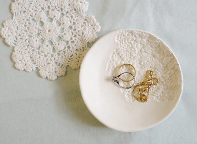 Mini Doily Print Bowl