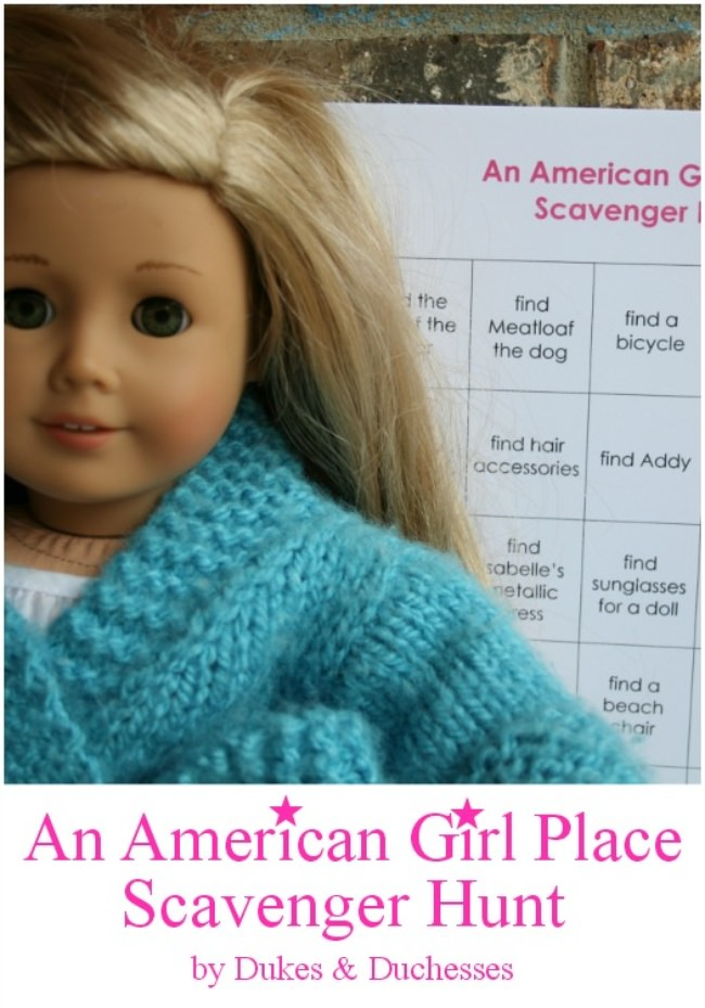 American Girl Place Scavenger Hunt