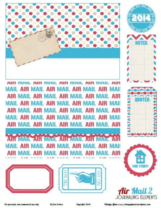 Air Mail Printables
