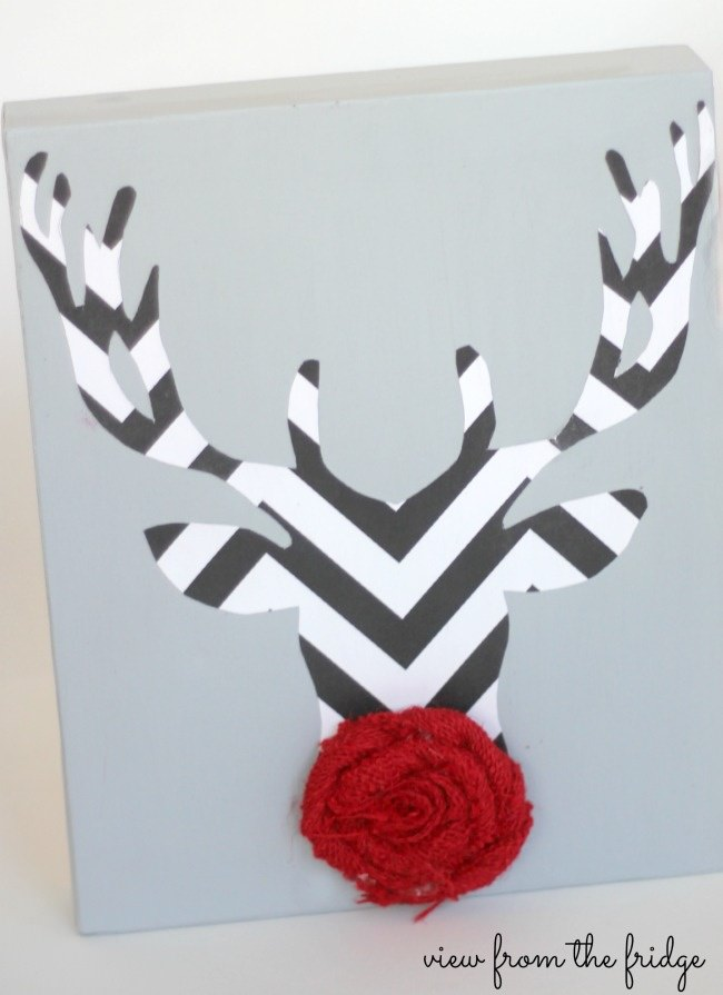 DIY Rudolph Canvas