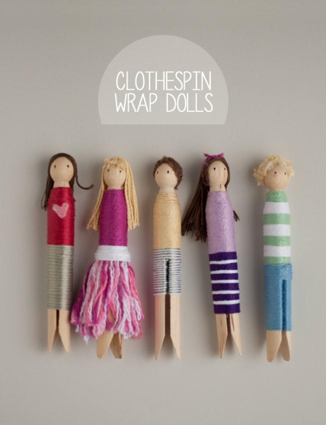 Superhero Clothespin Wrap Dolls