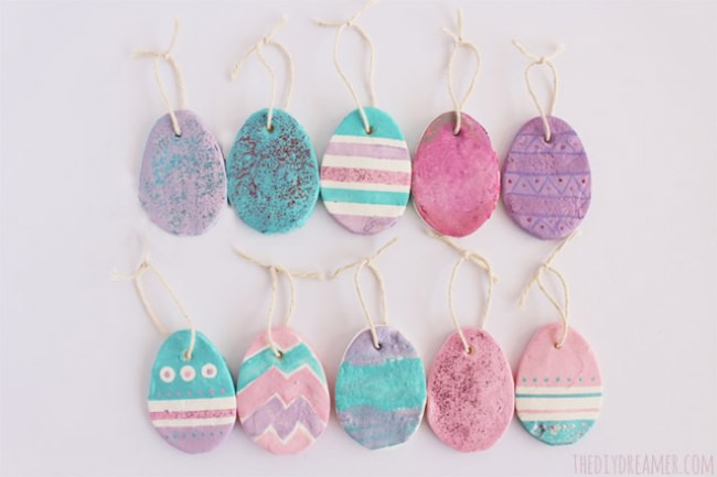 Baking Soda Easter Eggs {ornaments}