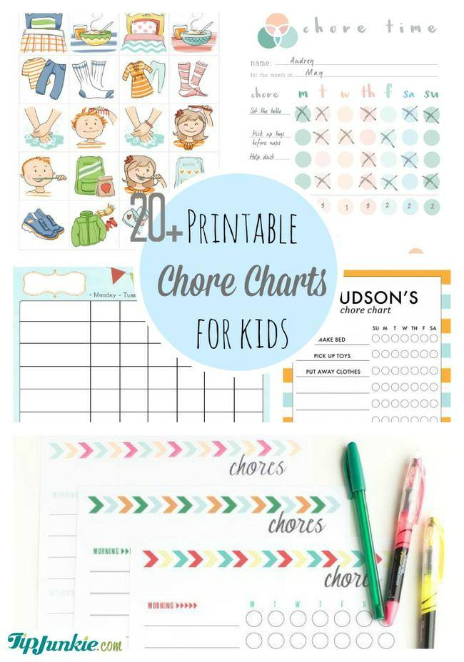Printable Chore Charts for Kids-jpg