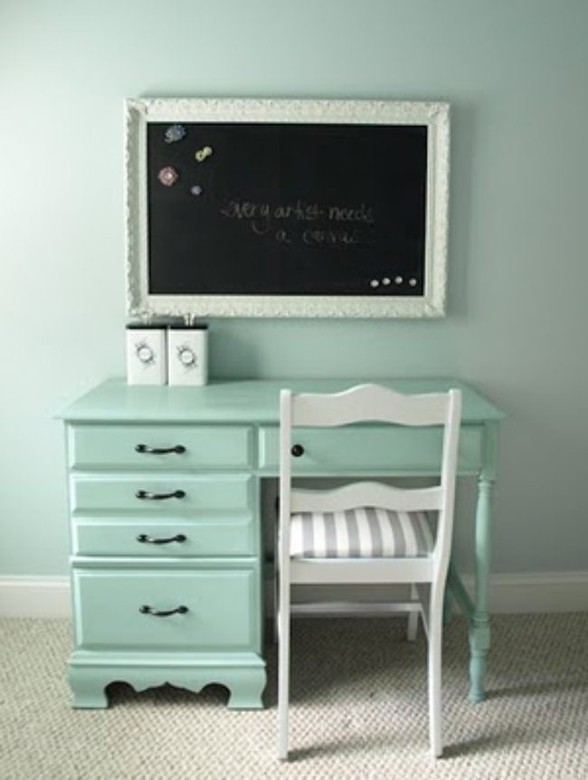 How to Make a Magnetic Chalkboard {step by step}