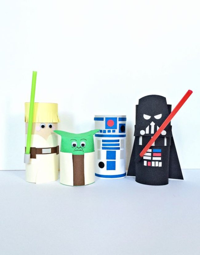 Star Wars Character Toilet Tube Craft
