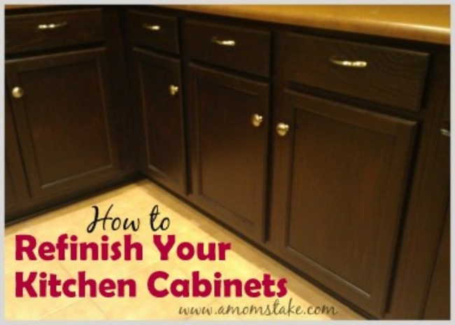 How to Refinish & Stain Kitchen Cabinets