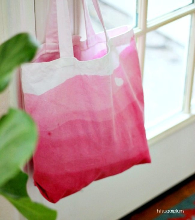Dip Dyed Ombre Tote Bag