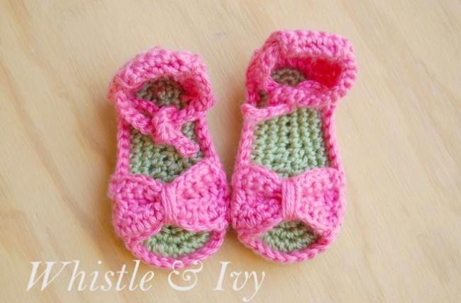Bitty Bow baby shoes