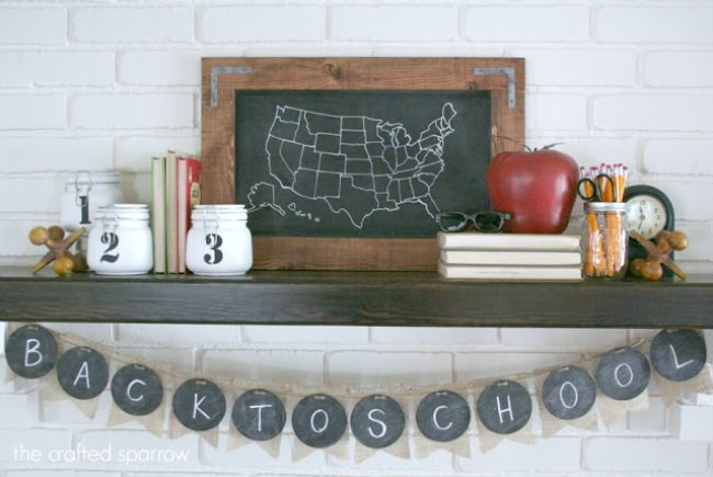 Back to School Mantle